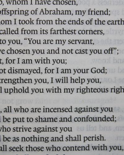 Fear not; be not dismayed